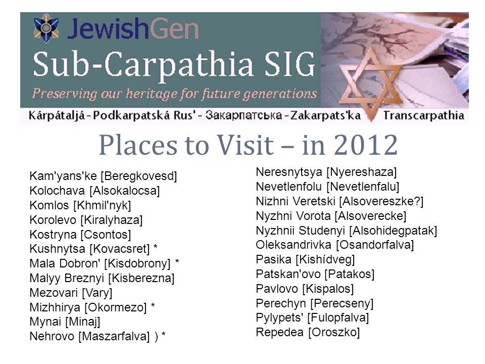 Places to Visit – in 2012 Neresnytsya [Nyereshaza]
